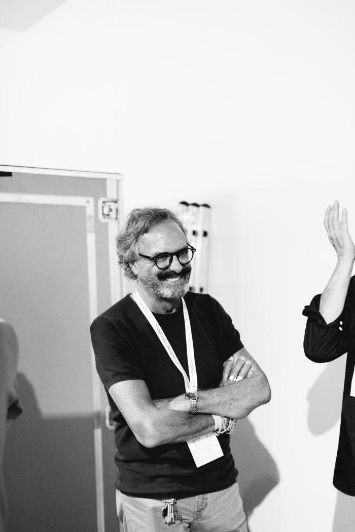 retrato de Josep Maria Mir en el festival Blanc! 2019