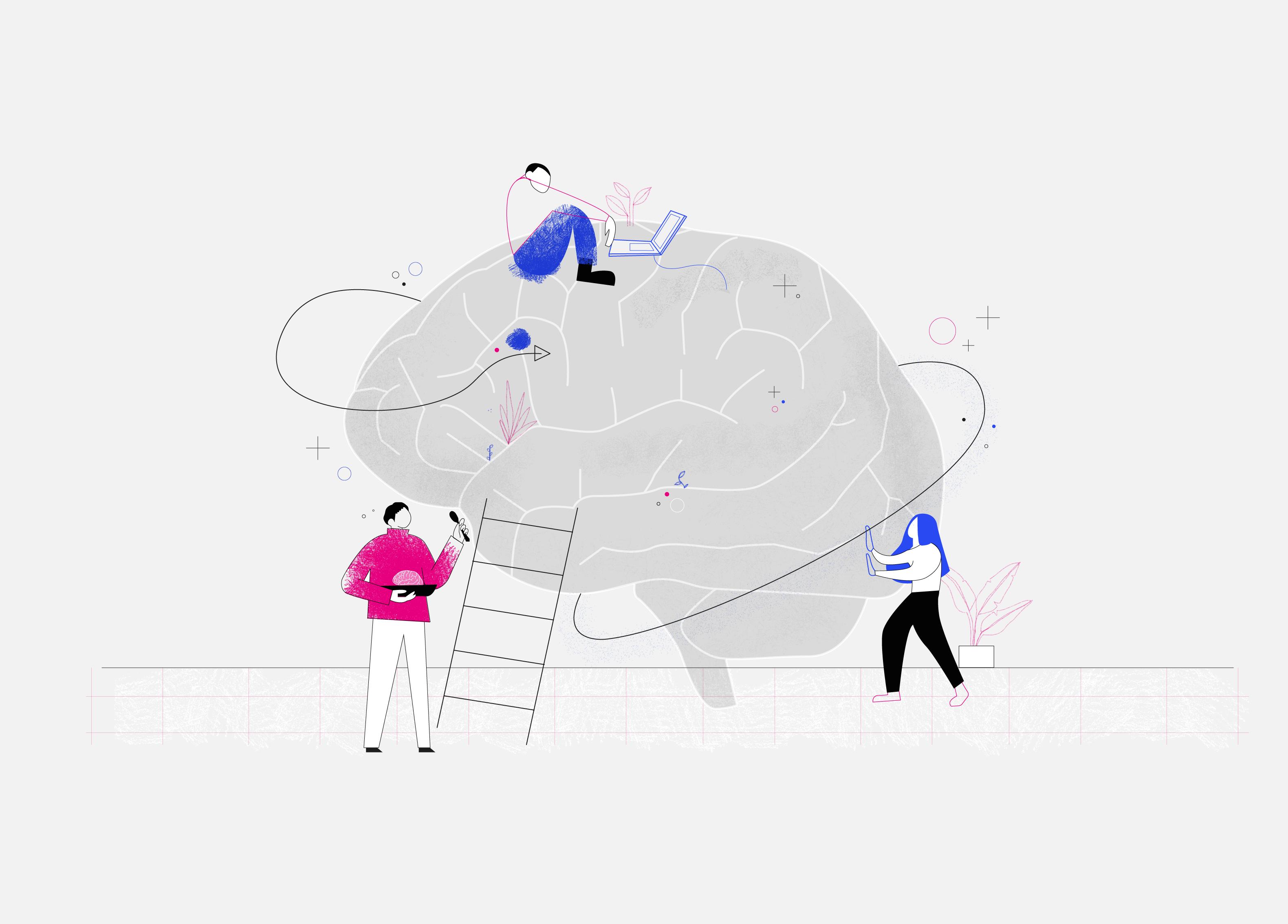 ilustración diseño y mente por silvanashu