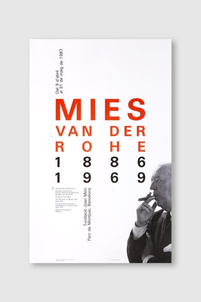 diseño cartel Mies van der Rohe 1886-1969 por Josep Maria Mir