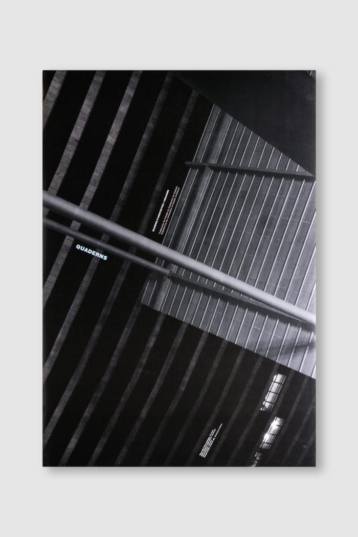 cartel Quaderns d'arquitectura por Josep Maria Mir