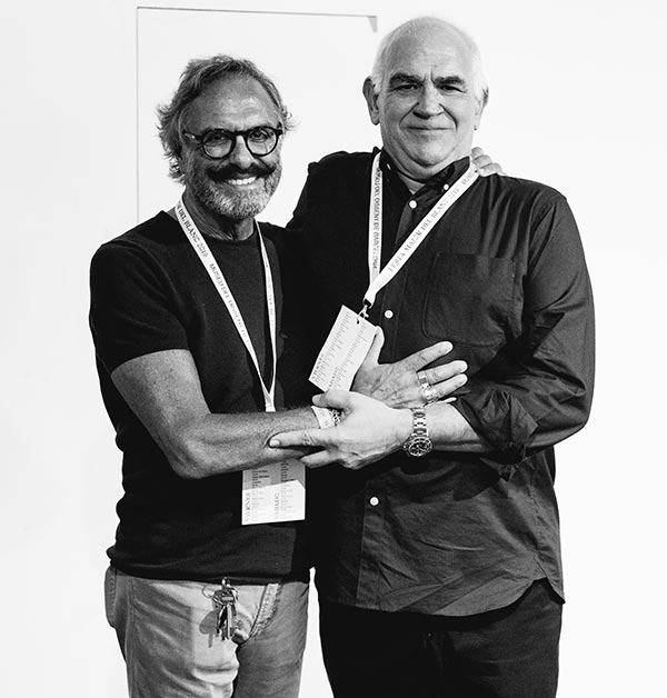 Josep Maria Mir con Oscar Mariné