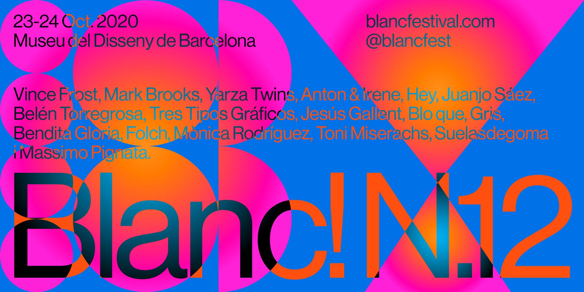 Blanc! 2020 - Cartel - Ponentes - Conferencias de diseño