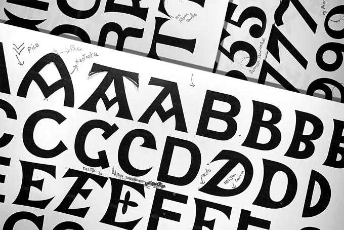 Diseño tipografia vasca