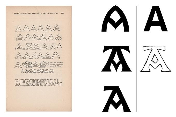 tipografía Vasca