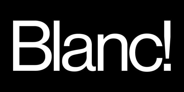Tipografía logo Blanc!