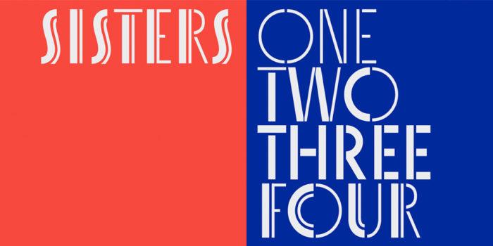 Sisters, tipografía display
